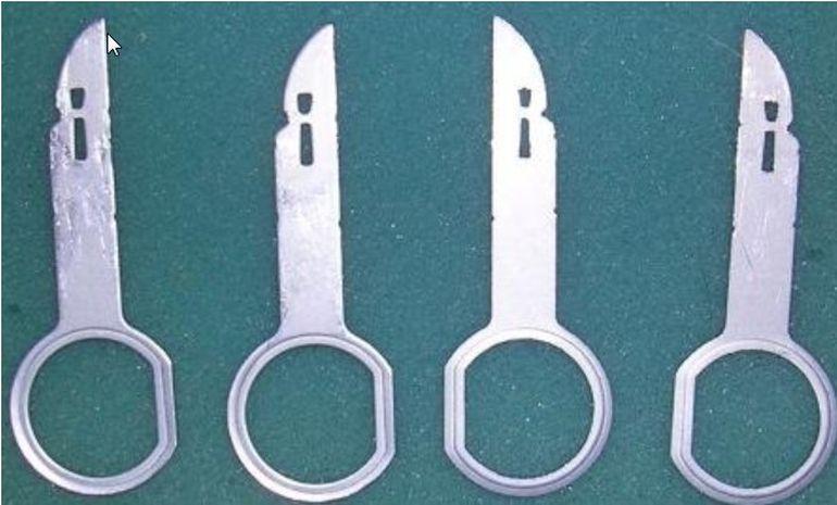 Ключи для снятия штатной магнитолы Форд Фьюжн