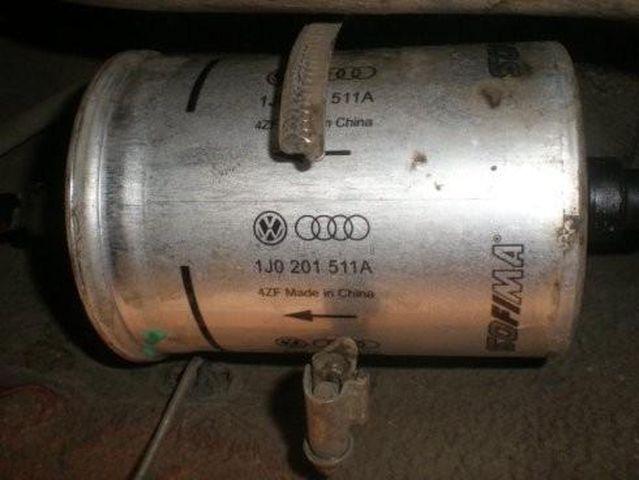 Снимаем топливный фильтр Шкода Октавия
