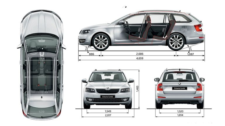 Объём багажника Шкода Октавия