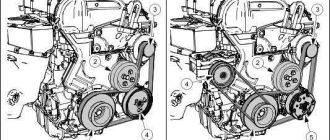 Схема ремня генератора Форд Фьюжн